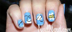Bumble bee nails!