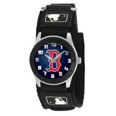 Young fans will know when game time is with the Kids Black Rookie Watch. This nylon strap watch features a Velcro closure for a comfortable and easily adjustable watch for kids. The bright official team colors and logos make this a stand out watch. With a stainless steel back along with shock and water resistant protection, this watch will last from season to season! - A quality product from the licenced US sports goods, US sports wear and US sports merchanise range at Distinct Sports Goods