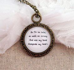 Mumford and Sons I Will Wait Inspired Lyrical Quote Necklace. $14.95, via Etsy.