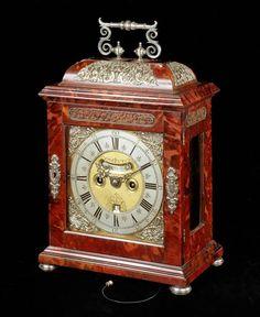A QUEEN ANNE TORTOISESHELL BRACKET CLOCK BY PETER GARON - 1710