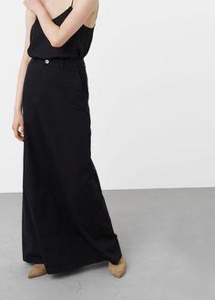 Pocket cotton-blend skirt | MNG