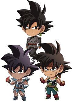 Black Goku, Turles, and Bardock
