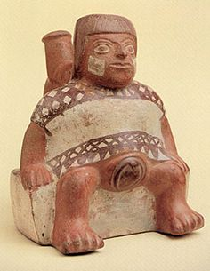 Moche birthgiving figure shape vessel 100-800 C.E.