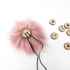 Rosé Faux Fur Pom Poms – Warehouse 2020 More Code, Faux Fur Pom Pom, Black Nylons, Pom Poms, Warehouse, Detail, Rose, Pink, How To Make