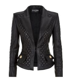 Balmain Quilted Leather Jacket available to buy at Harrods. Shop designer women's jackets online and earn Rewards points.