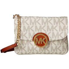 Michael Kors Fulton Flap Gusset Vanilla Crossbody Handbag