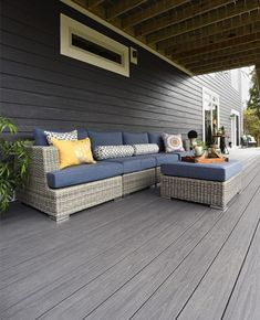 The AZEK Arbor Collection delivers exotic wood looks via PVC deck boards. Made without any wood particles for maximum protection and low-maintenance living. Plastic Wood Decking, Pvc Decking, Composite Decking, Decking Ideas, Deck Design, Floor Design, Timbertech Decking, Mahogany Decking, Log Homes