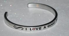 I Love A Good Party  | Engraved not Hand Stamped  #Handmade #Cuff