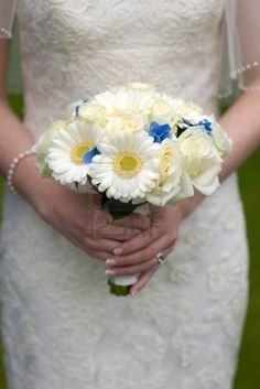 #gerbera daisy wedding Bouquet Gerbera blanc