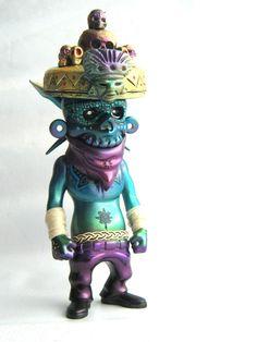 Mictlan custom by Frank Mysterio #toys #art #vinyl