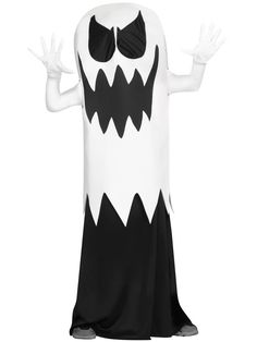 Boy's White Floating Ghost Costume