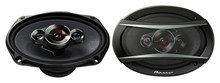 "Pioneer - TS-A Series 6"" x 9"" 4-Way Component Speakers (Pair) - Black"
