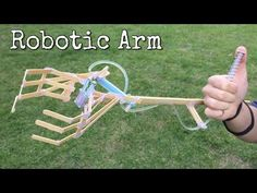 (11) How to Make Hydraulic Powered Robotic Arm at Home from Coffe Shop Sticks and Syringe - YouTube