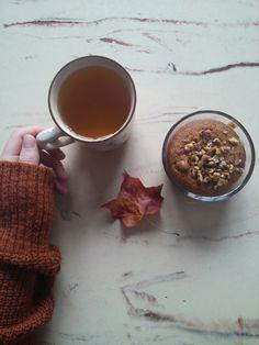 Autumn aesthetic. Pumpkin tea and pumpkin cake || by Rosa @pargaran