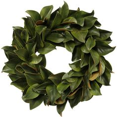 I pinned this Faux Magnolia Leaf Wreath from the Downhome Home Decor event at Joss and Main!