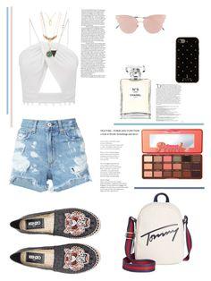 """#casual #stylish #shorts"" by zazaya96 on Polyvore featuring moda, rag & bone/JEAN, Kenzo, Tommy Hilfiger, Lana, Too Faced Cosmetics, So.Ya, Kate Spade, Chanel e Balmain"