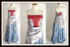 Custom Made Bloody Blue Evening Gown Vampire Queen ELEGANT PRINCESS ZOMBIE Halloween Costume Size 14 L by wardrobetheglobe $110.00 click to buy