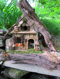 Cascade Lodge A Ooak Garden Fairy Home 215 00 Via Etsy Mini