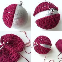 Crochet Christmas Baubles - Tutorial ❥ 4U hilariafina…
