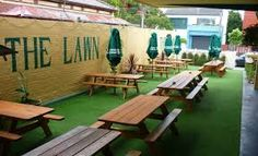 Image result for artificial grass beer garden