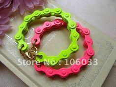 #bike chain friendship bracelet  #jewelry