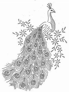 Vintage Embroidery Designs Vintage Hand Embroidery Pattern Alice Brook 7297 Peacocks for Linens . Paper Embroidery, Embroidery Transfers, Silk Ribbon Embroidery, Hand Embroidery Designs, Embroidery Stitches, Machine Embroidery, Embroidery Sampler, Embroidery Ideas, Flower Embroidery
