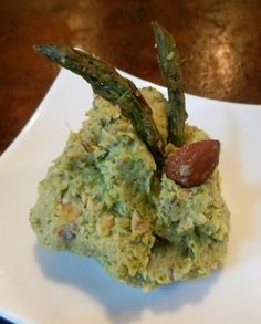 Smokey Grilled Asparagus and White Bean Spread-no oil.,,use in wraps too for lunch