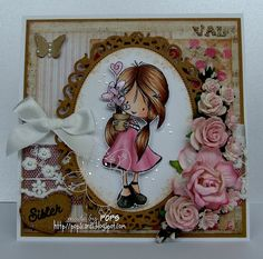 """Pop's Cards: Tiddly Inks """"Friends are Flowers"""""""
