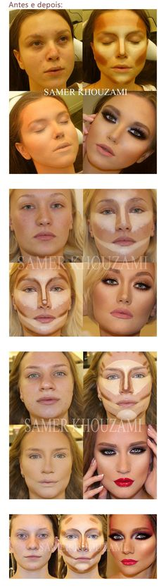 A reminder that makeup is artwork essentially. Makeup Inspo, Makeup Tips, Hair Makeup, Face Contouring, Contour Makeup, Make Up Tricks, How To Make, Make Up Braut, Braut Make-up
