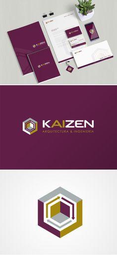 """KAIZEN es un término japonés que significa """"mejora constante"""", a veces se representa como un círculo o una serie de procesos incluidos en un ciclo que avanza en el sentido de las agujas del reloj. El logo definitivo representa una perspectiva isométrica que crea un cubo insertado dentro de otro cubo. Entre los dos cubos aparecen 3 flechas que crean un efecto de rotación siguiendo el sentido de las agujas del reloj."""