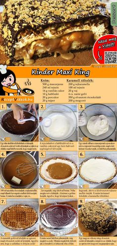 Kinder Maxi King recipe with video. Detailed steps on how to prepare this easy and simple Kinder Maxi King recipe! King Torta, Maxi King, Cookie Recipes, Dessert Recipes, Food Cakes, Sweet Tooth, Food Porn, Food And Drink, Yummy Food