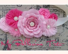 Rosa maternidad embarazo foto Prop Couture por CoutureBabyHeadbands