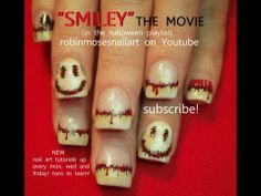 SMILEY The Movie Halloween Horror Film Nail Art