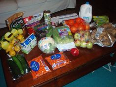 Brigette's $54 grocery shopping trip and weekly menu plan for 6.