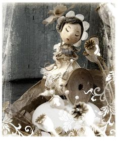 Claire Guiral also know as Miss Clara lives in Bordeaux, France.She is an extraordinary artist. in paper and illustration. Miss Clara, Le Talent, Paperclay, Paper Artist, Muted Colors, Beautiful Dolls, Childrens Books, Illustration Art, Illustrations
