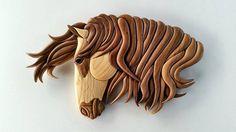 Impétuosité Horse Sculpture, Wall Sculptures, Bois Intarsia, Intarsia Patterns, Horse Pattern, Stamp, Scroll Saw Patterns, Equine Art, Horse Art