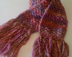 Self Striped Scarf in Pink tones