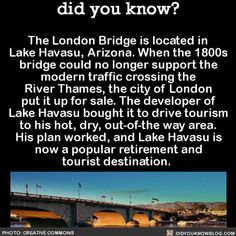 I'm surprised, much easier to get to Arizona than London; also smart for both London & Arizona to save a valuable landmark