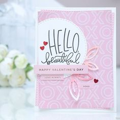 Simon Says Stamp | Hello Beautiful – February Card Kit. Video | by Yana