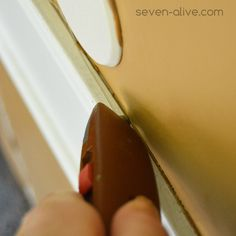 Score along the strip to save the surface of the wall. Mobile Home Renovations, Remodeling Mobile Homes, Home Upgrades, Home Remodeling, Mobile Home Redo, Mobile Home Repair, Mobile Home Makeovers, Mobiles, Home Repairs