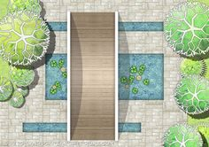 Creating garden plans with hand drawing landscape symbols images - Super Landscaping plan software Landscape Architecture Drawing, Landscape Sketch, Landscape Design Plans, Landscape Drawings, Landscaping Design, Roof Garden Plan, Different Plants, Exterior, Native Plants
