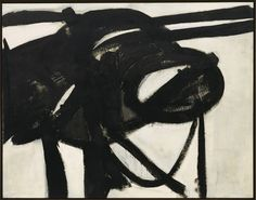 Franz Kline (American, Chief, Oil on canvas. David M. The Museum of Modern Art, New York. © 2010 The Franz Kline Estate; used with permission Franz Kline, Action Painting, Painting Lessons, Painting Art, Tachisme, Willem De Kooning, Abstract Expressionism, Abstract Art, Abstract Paintings