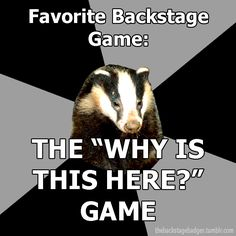 THIS HAPPENS TOO MUCH! (The Backstage Badger)