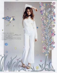 Editorial - NYLON  fashion Illustration by Ella Tjader, via Behance