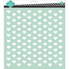Heidi Swapp Tiny Hearts Stencil 12 by 12Inch *** This is an Amazon Affiliate link. Check this awesome product by going to the link at the image.