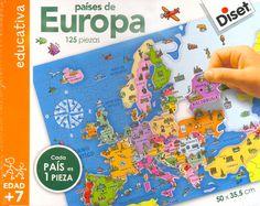 Puzzle 125 piezas Países de Europa Diset