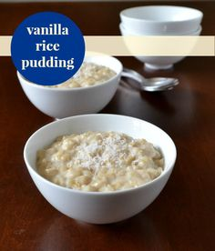 This vanilla brown rice pudding recipe is such a delicious, healthy snack. Comfort food at its best! Recipe from Real Food Real Deals.