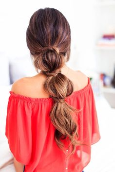 Easy lazy effortless bubble ponytail hairstyle created with Ombre Chestnut Luxy Hair Extensions! Lazy Girl Hairstyles, Summer Hairstyles, Pretty Hairstyles, Hairstyle Ideas, Stylish Hairstyles, Bridal Hairstyles, Short Hairstyles, Makeup Hairstyle, Layered Hairstyles