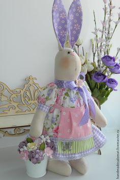"""Купить Зайка """"Цветочница-2"""" рост 40см - зайка, зайка тильда, цветочница, садовница, зайчиха"""