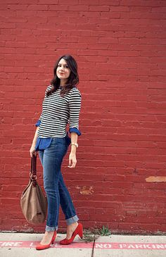 Stripes + Red featuring member Kendi http://www.kendieveryday.com/
